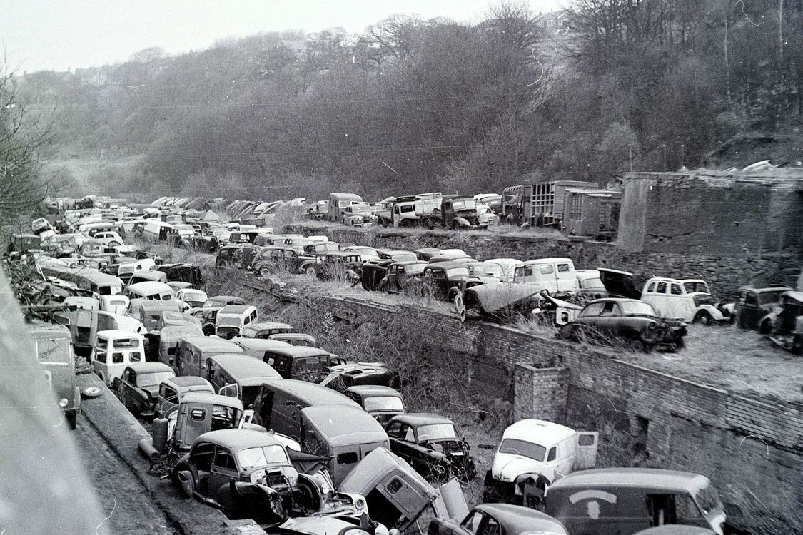 scrap yard black and white photos - Google Search | Vintage auto ...
