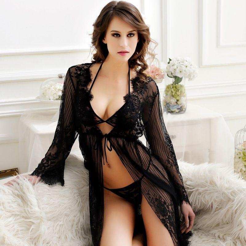 Seductive sexy women in see thru