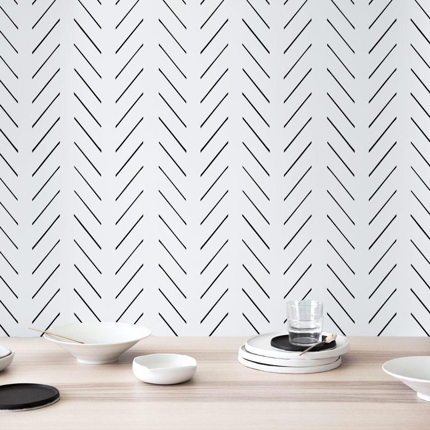 Modern Delicate Herringbone Removable Wallpaper Herringbone Wallpaper Removable Wallpaper Scandinavian Design