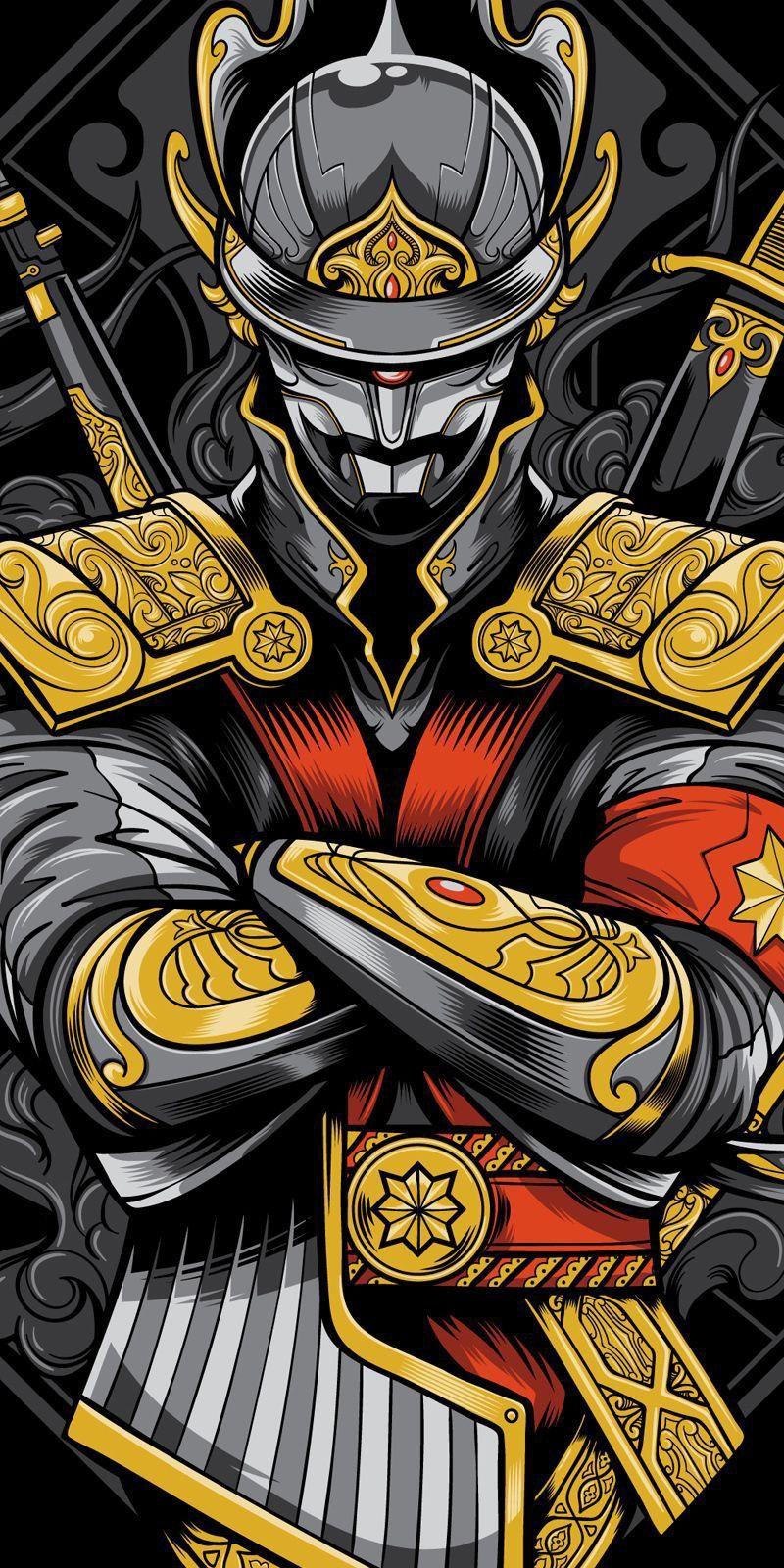 {title} (Dengan gambar) Samurai, Seni jepang, Gambar