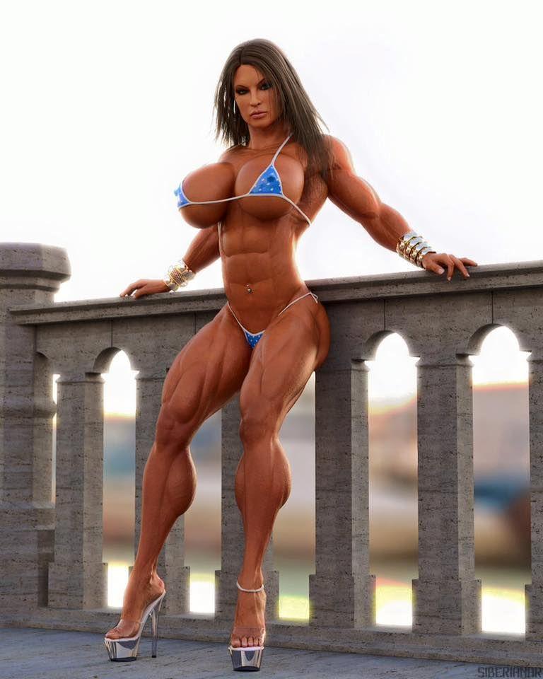 curvy muscle girl
