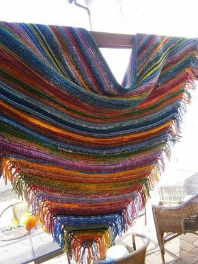 Photo of Wool, needles and Patricia – ingenious scarf made from wool residues