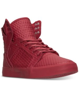 Supra Men's Skytop High-Top Casual Sneakers from Finish Line - Red 13