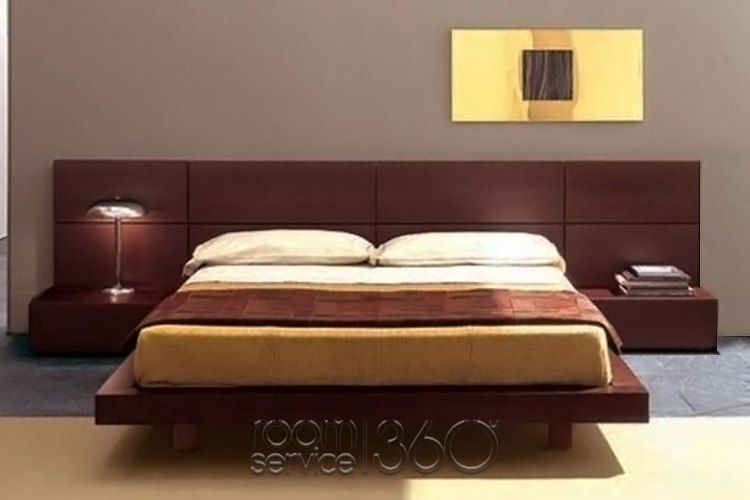People designer panel platform bed by pianca for Pianca muebles