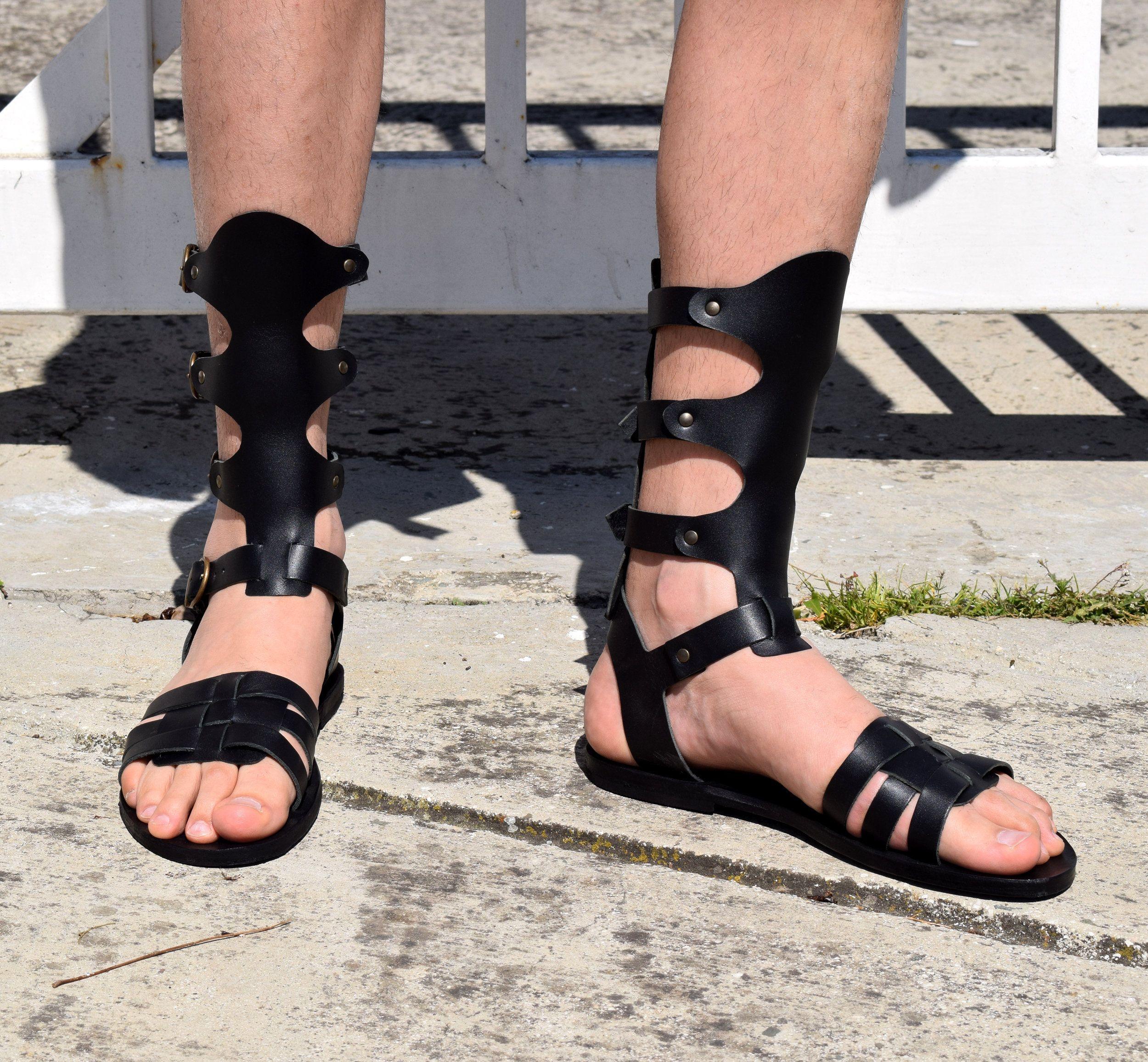 Gladiator Roman Men Grecian Spartan Sandals