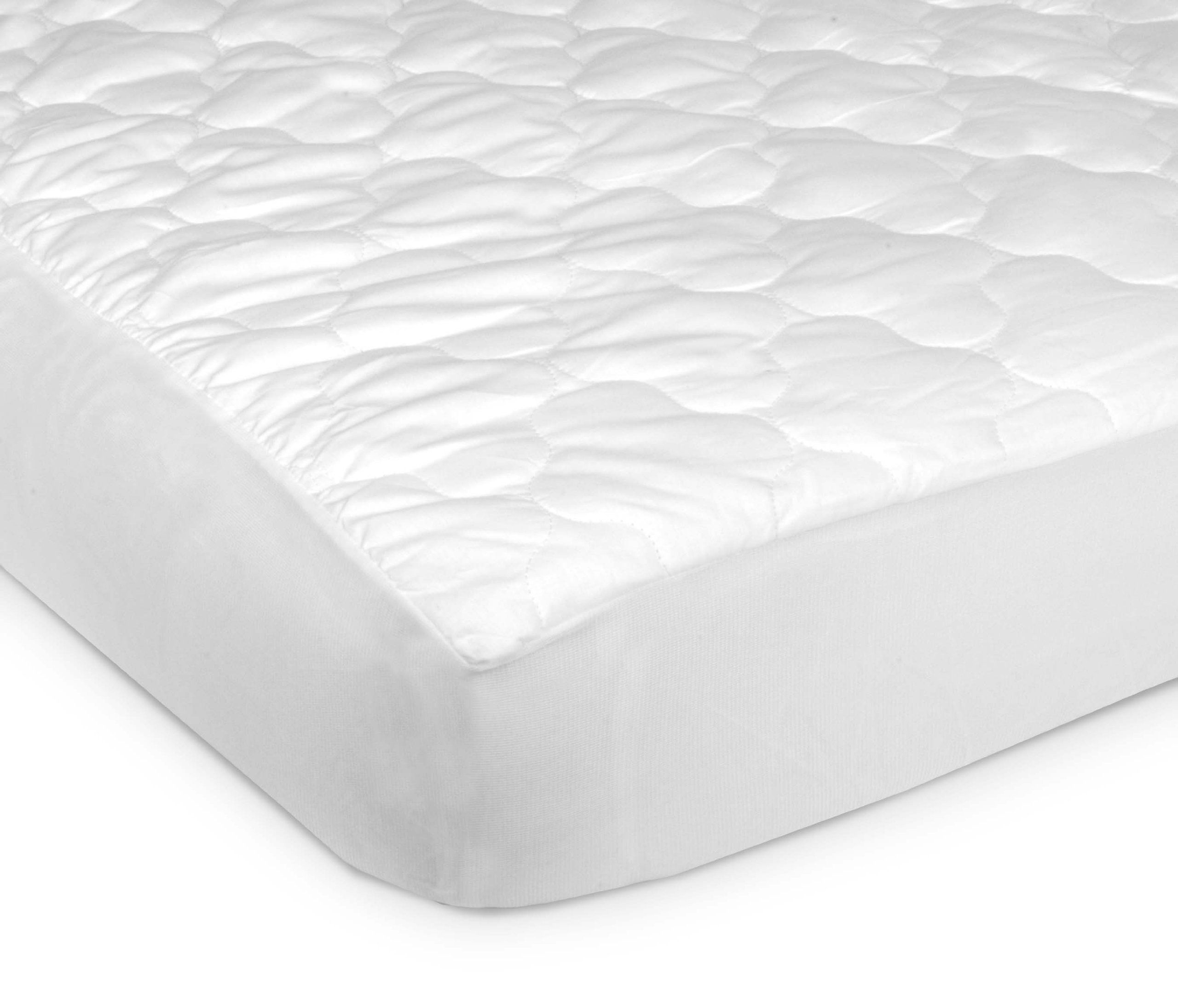 2 pls...Carter's Keep Me Dry Fitted Quilted 4-Ply Crib Pad, White