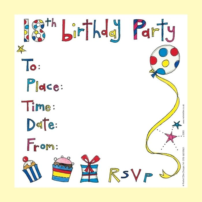 birthday party invitations free templates Birthday Party - birthday card templates free