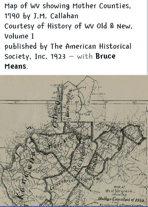 Map In 1799 West Virginia History Map Of West Virginia West Virginia
