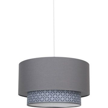 Suspension Mosaic Gris 100 Watts Diam 40 Cm 43 Leroy Merlin