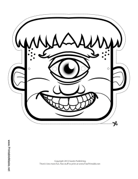Printable Male Cyclops Mask To Color