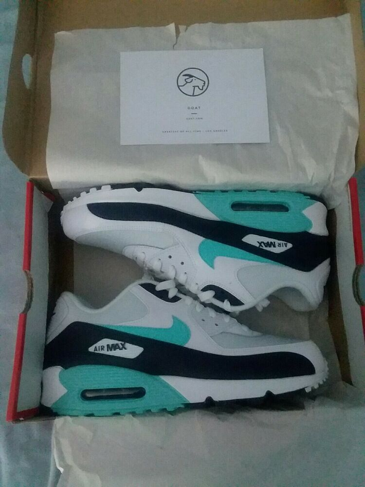 22e63aa2be Nike Air Max 90 Essential white/Aurora green Size 11 sku# AJ1285 102  #fashion #clothing #shoes #accessories #mensshoes #athleticshoes (ebay link)