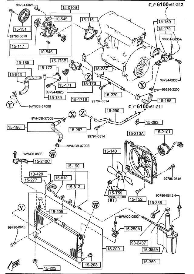 mazda v6 Motor diagram