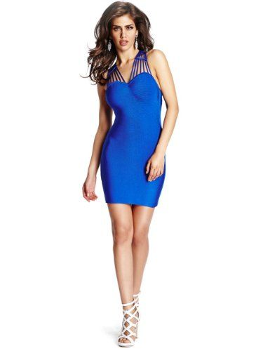 GUESS by Marciano Women's Drucilla Bandage Dress, WILD BLUE (XS) GUESS by  Marciano