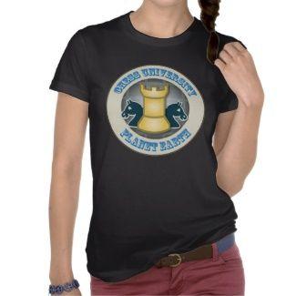 Chess University on Planet Earth Emblem Tshirt by Tees2go