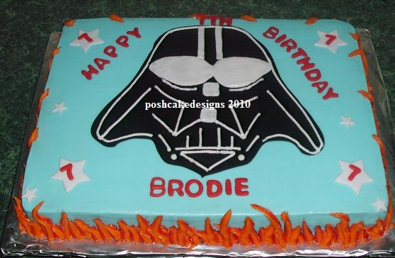 Darth Vader sheet cake idea Cakes Pinterest Birthday party