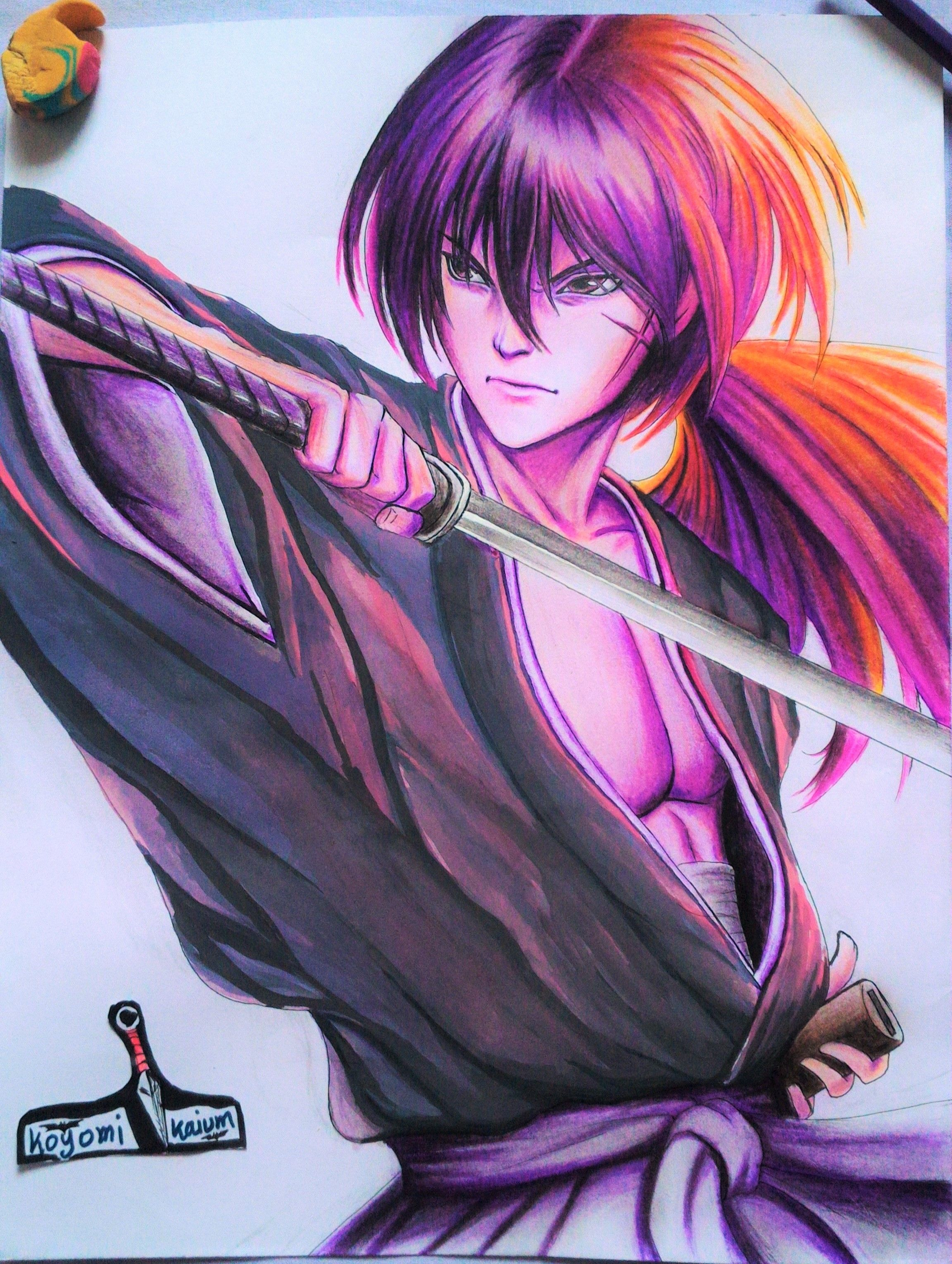 samurai X New art, Art, Anime