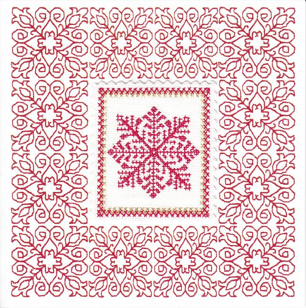 Free redwork patterns redwork embroidery snowflake border1 free redwork patterns redwork embroidery snowflake bankloansurffo Gallery