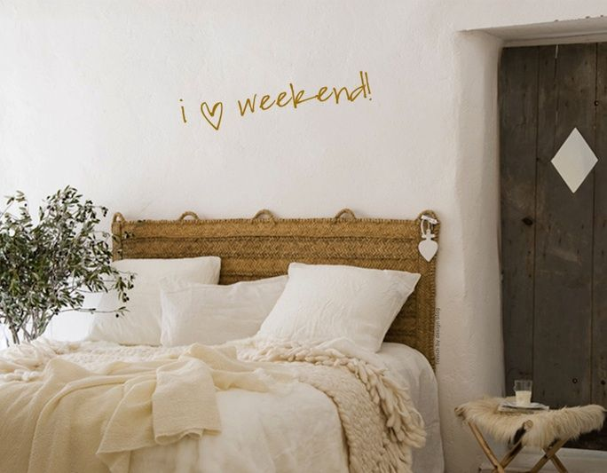 straw headboard and olive branch ♥  styling Marion Alberge