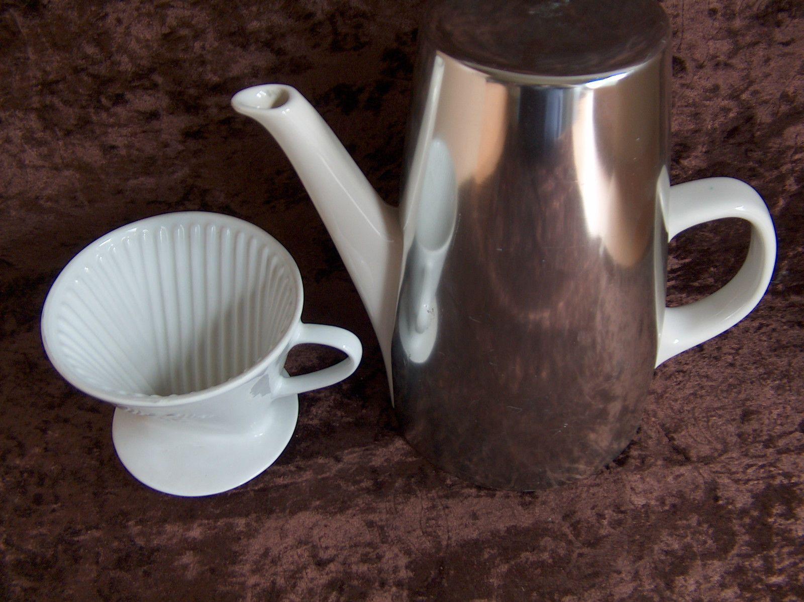 alte melitta kaffeekanne isolierhaube versilbert melitta porzellan filter 102 ebay 25 1 x. Black Bedroom Furniture Sets. Home Design Ideas