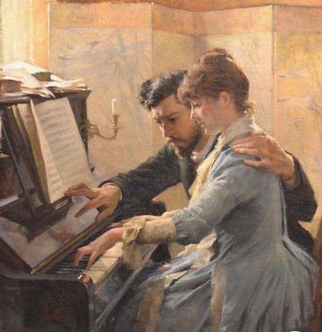 Pianogirl In 2020 Romantic Art Art Painting Piano Art