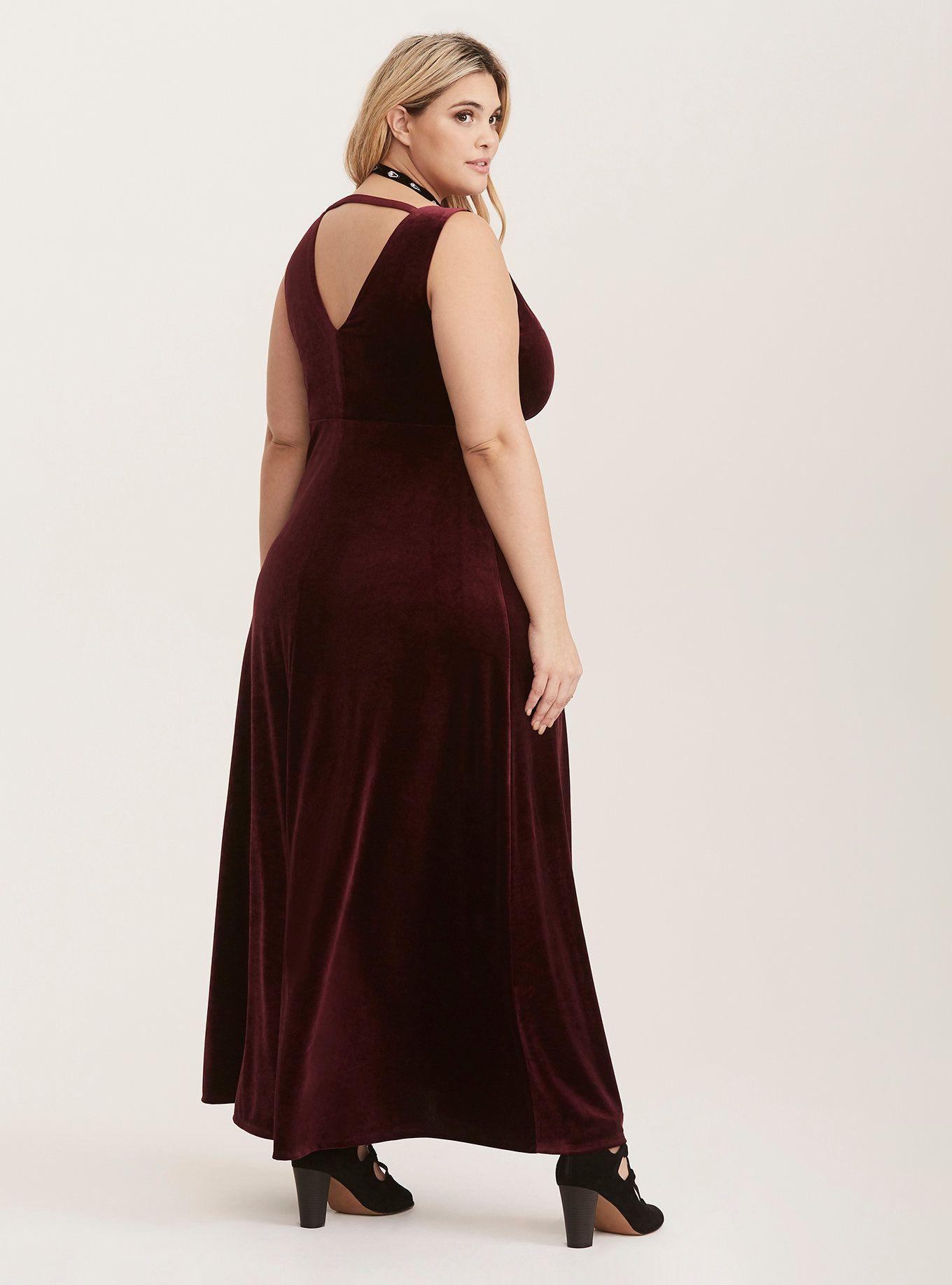 80fde21ed62 Merlot Velvet Slit Maxi Dress (Short Inseams Now Available) in 2019 ...