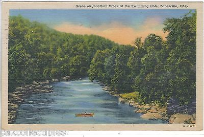 Scene On Jonathon Creek At The Swimming Hole Zanesville Ohio 1958
