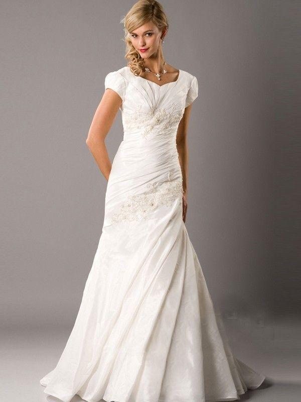 Dresse LDS Modest Wedding Gowns | Cheap Modest Wedding Dresses ...