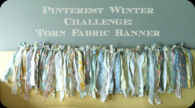Winter Pinterest Challenge: Fabric Banner