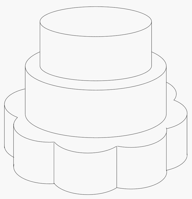 шаблон картинки торта