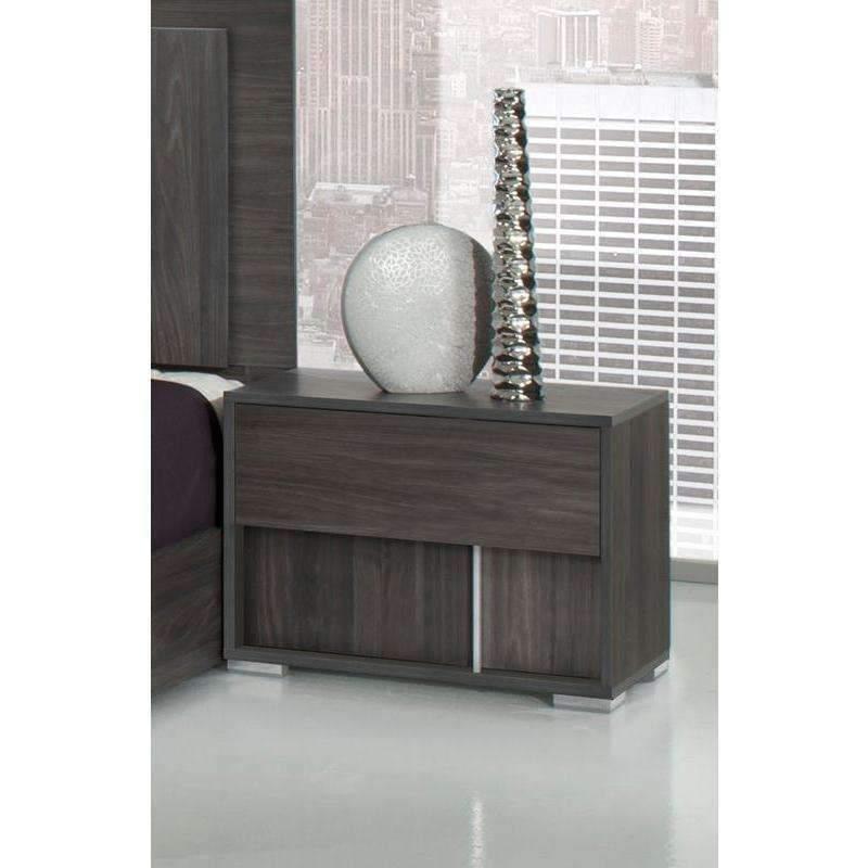 Best Modrest Luca Italian Modern Grey Nightstand Modern 400 x 300