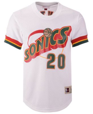93a73ed92236 Mitchell   Ness Men s Gary Payton Seattle SuperSonics Name and Number Mesh  Crewneck Jersey - White S