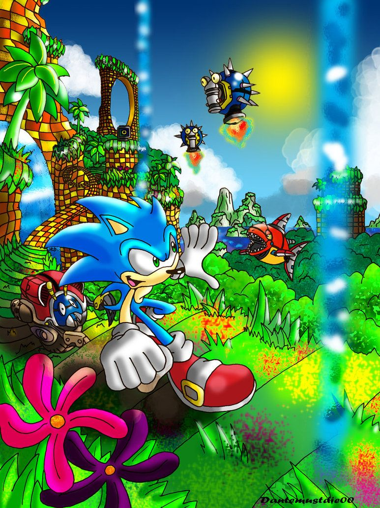 Splash Hill Zone By Nextgrandcross Sonic The Movie Awsome Pictures Cool Artwork