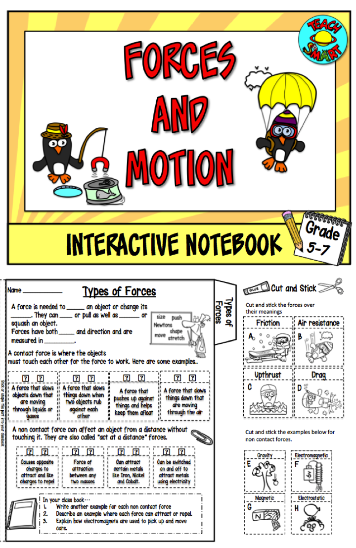 Learn About Floating Balanced And Unbalanced Forces Carry Out Virtual Experiments On Gravity A Interactive Notebooks Interactive Science Notebook Interactive