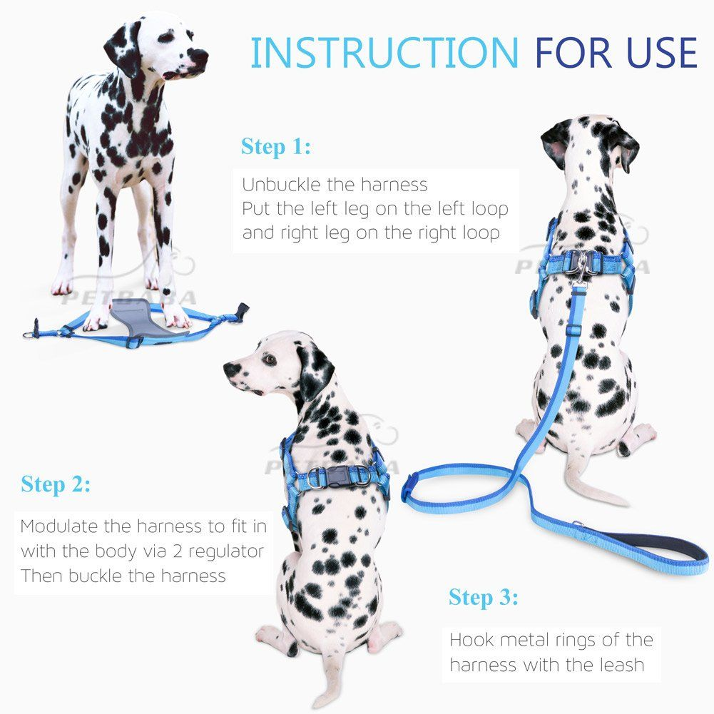 Dog Seat Belt Harness Leash Petbaba No Pull Escape Proof