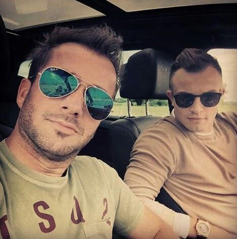 Photo of Xherdan Shaqiri & his friend  Pepe - Munich
