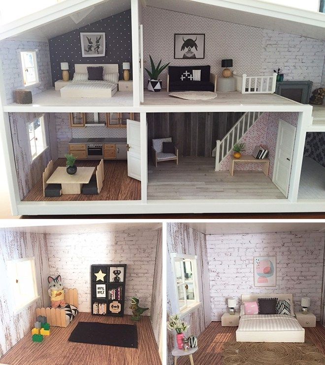 14 modern day diy dolls house renovations mum s grapevine in the rh pinterest ch