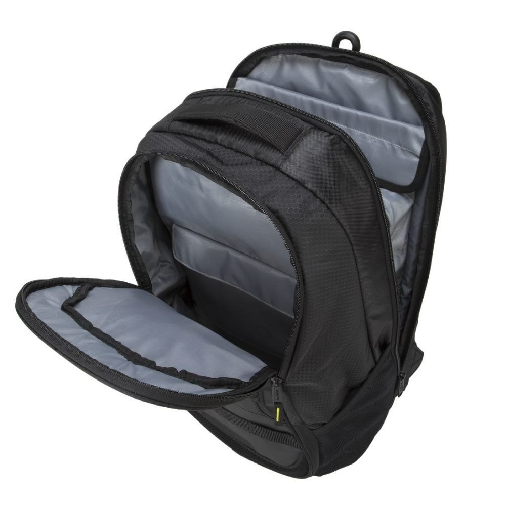 Black Targus Sport Backpack with Padded Laptop Compartment for 15.6-Inch Laptop