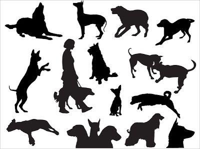 vectores de animales  dibujos lineales y siluetas  Pinterest