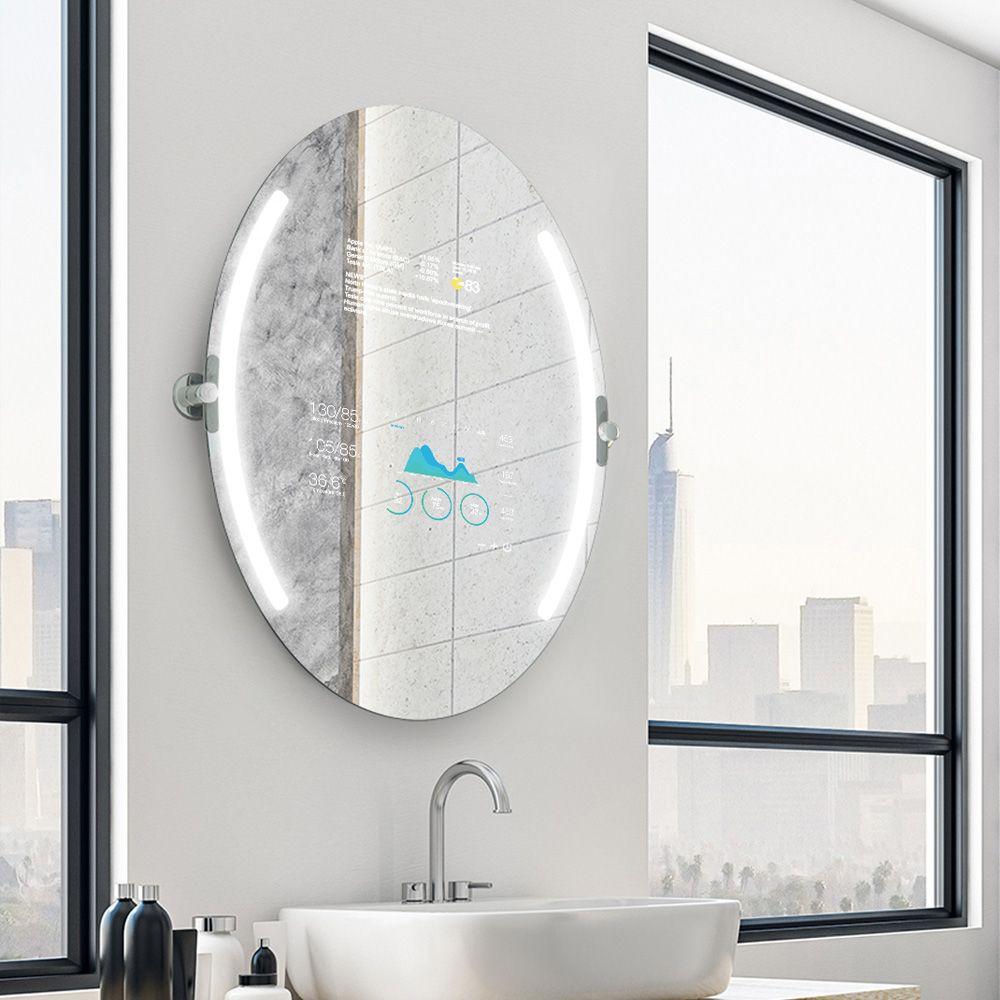 Quizas Un Espejo Oval Qaio Para Impresionar A Sus Invitados Led Mirror Bathroom Mirror Round Mirror Bathroom [ 1000 x 1000 Pixel ]