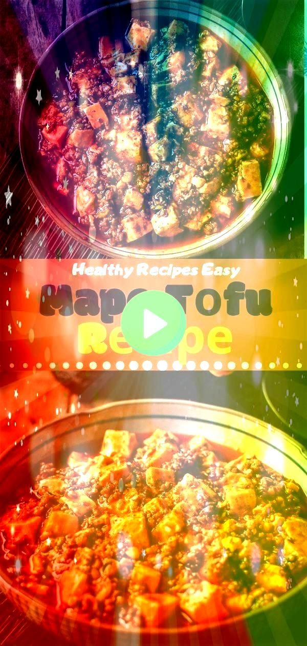 Easy  Mapo Tоfu Rесіре  Yummy dinners Healthy Recipes Easy  Mapo Tоfu Rесіре  Yummy dinners  Flavorful one pan enchilada zucchini turkey meatballs simmered with rice in a...