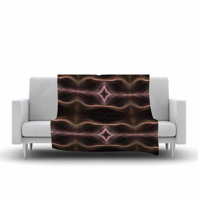 East Urban Home Pia Schneider Hazelnut Pale Line Vibes Digital Fleece Blanket