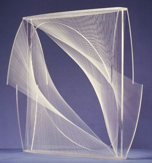 naum gabo linear construction in space no.1. (variation)