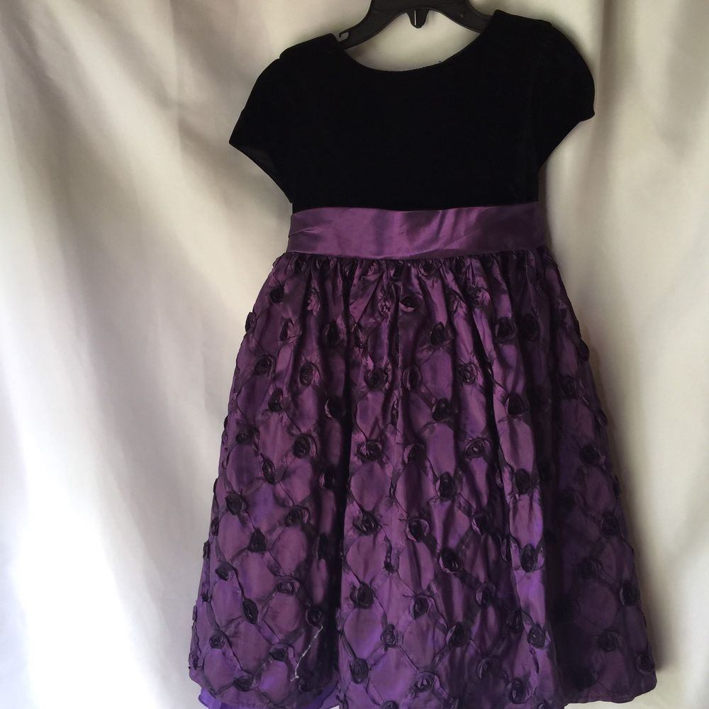 American Princess Girls Holiday Dress 4t Toddler Purple With Black Velvet Top Ebay Girls Holiday Dresses Holiday Dresses Black Velvet Top [ 1000 x 1000 Pixel ]