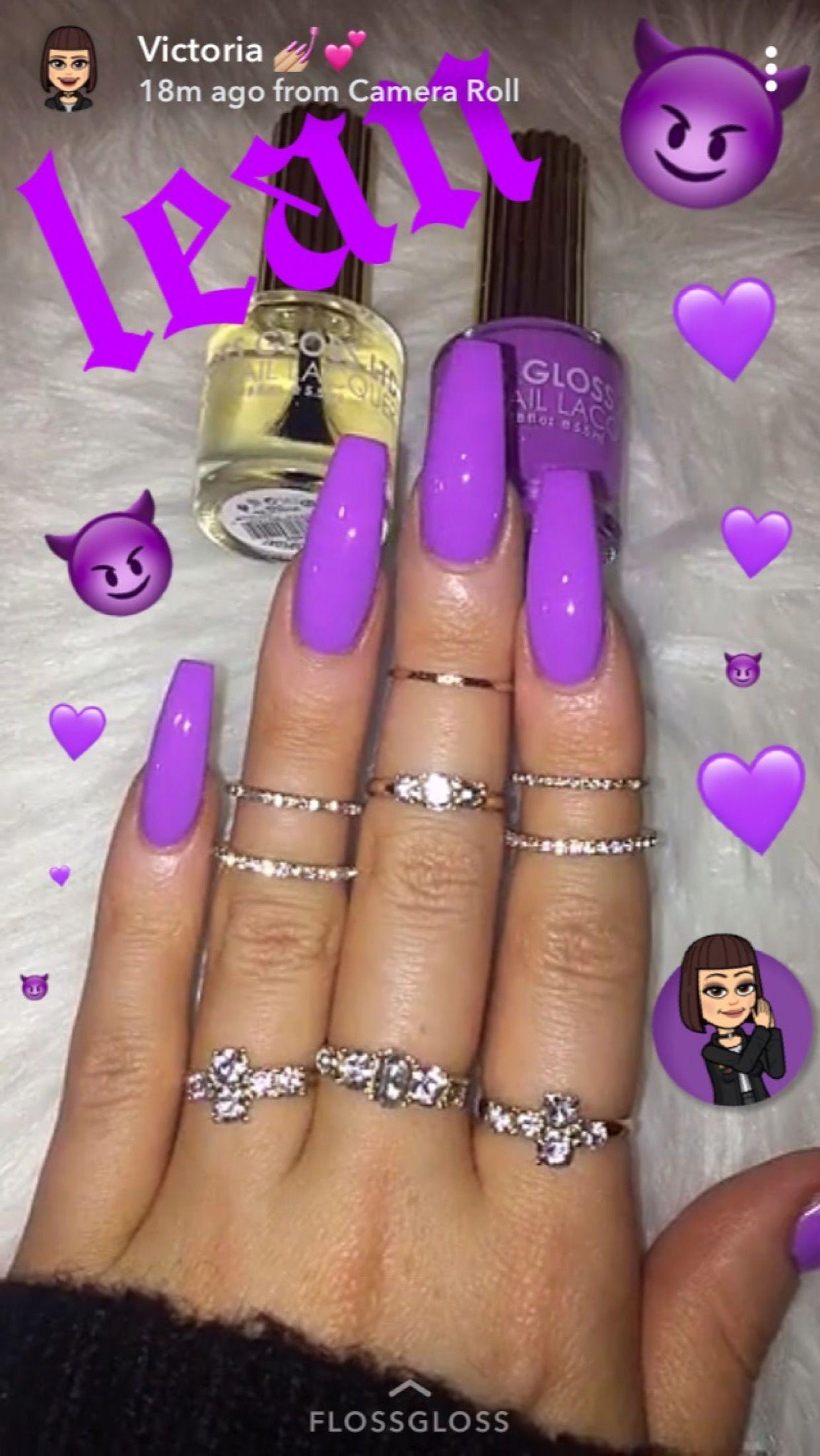 Dreamnailfeed Purple Acrylic Nails Purple Nails Cute Acrylic Nails