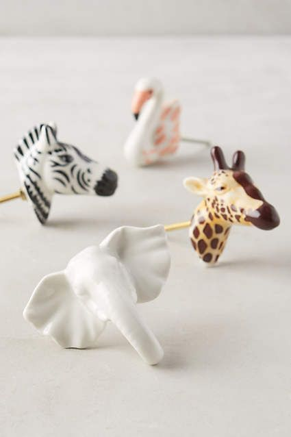 Ceramic Safari Knob | Childrens dresser, Nursery and Dresser