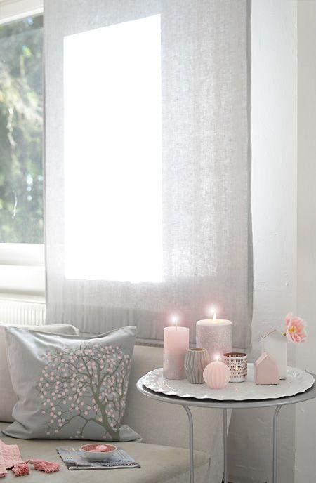 frühlingsrosa-graue dekoration https://www.wunderschoen-gemacht.de ...