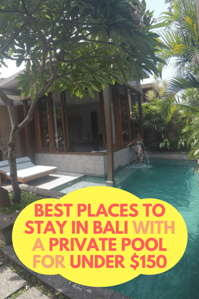 Best places to stay in Bali with a private pool under $150