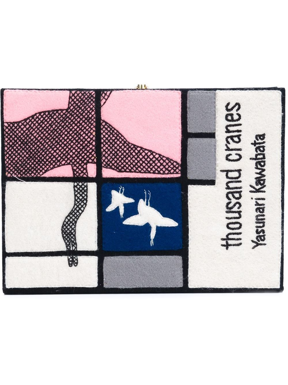 OLYMPIA LE-TAN Seagulls Print Clutch. #olympiale-tan #bags #clutch #hand bags #