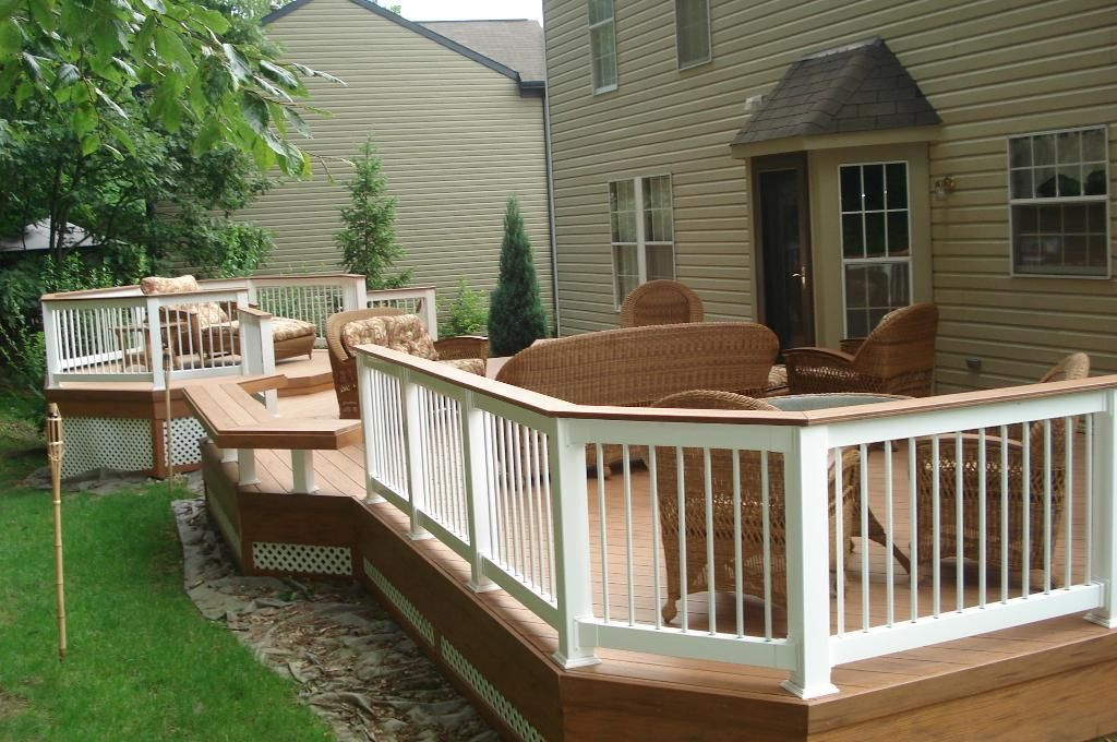 Ideas For Deck Designs outdoor garden inviting raised patio deck design ideas picture great deck design ideas Timbertech Florizon Composite Deck With Octagon Decks Photo Gallery Archadeck Of Pittsburgh South Hills