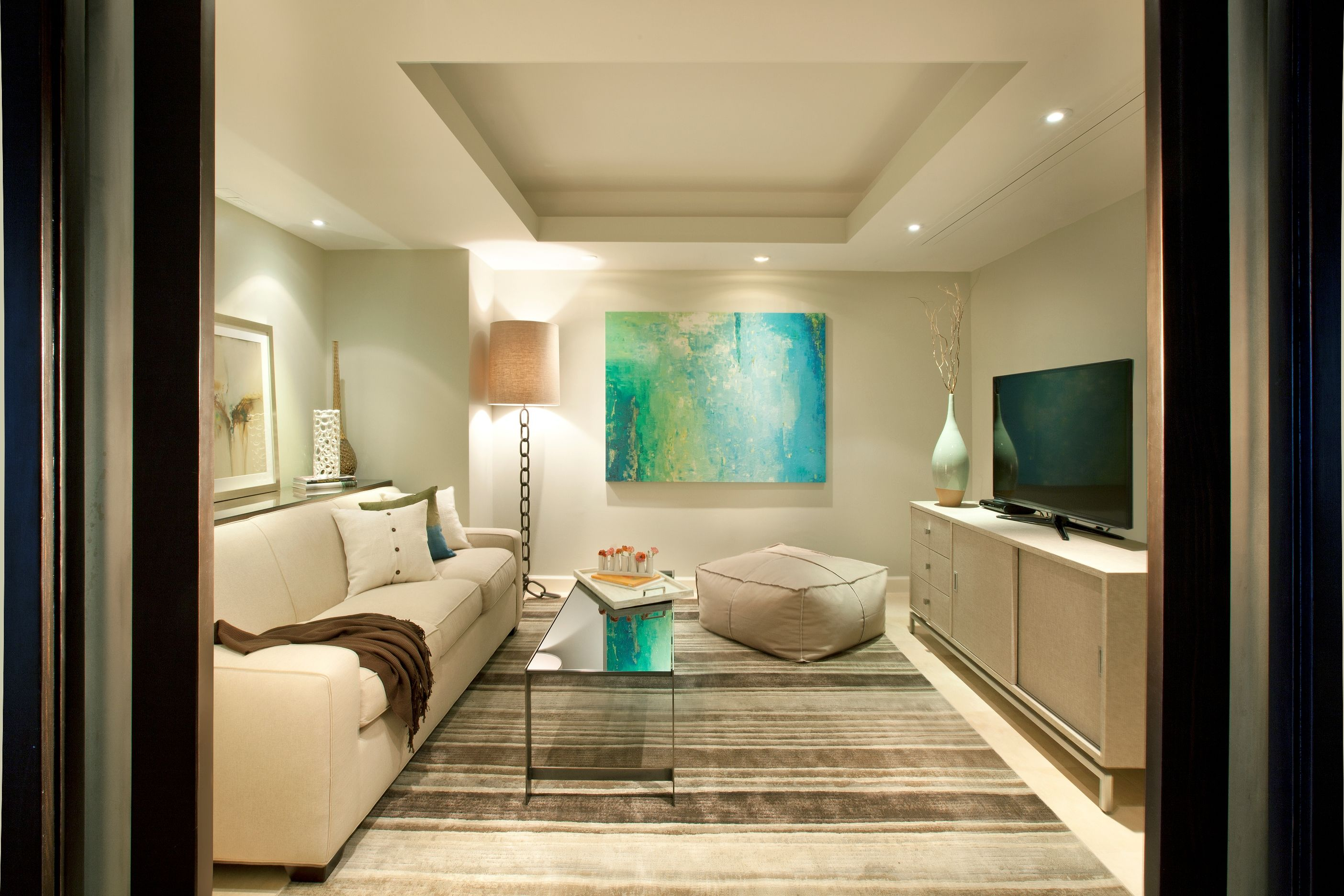 TV & Media Room - DKOR Interiors - Interior Designers - Miami - Modern